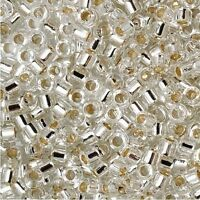 Miyuki Delica Seed Beads Size 11/0 Silver Lined Crystal 7.2g-Tube (DB041)
