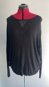 Ladies Size 14 Label Lab Oversized Black Top.