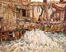 The Mill by Egon Schiele - Wooden Water Wheel  8x10 Print Picture 1588