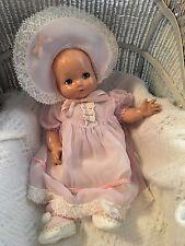 Vintage Antique 1940's Effanbee All Composition Baby Doll Flirty Hazel Eyes