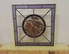 Stained Glass Hand-Painted Bird Center With - Free Standing Base