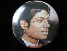 Michael Jackson-Profile Face-Pin-Badge-Button-80's Vintage-Rare