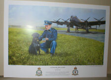 Avro LANCASTER & W/C Guy Gibson  617 Sqn, 'The DAMBUSTERS, Dog, Crests,17 x 12""