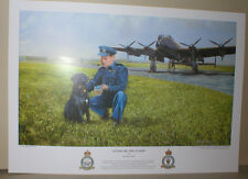 """Avro LANCASTER,Guy Gibson O.C. 617Sqn, 'The DAMBUSTERS', Dog, Crests,17 x 12"""""""