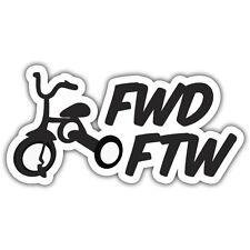 FWD FTW STICKER 130 x 70mm JDM EURO DUB VW