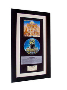 IRON MAIDEN Powerslave CLASSIC CD Album GALLERY QUALITY FRAMED+FAST GLOBAL SHIP
