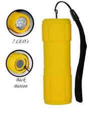 1 Yellow Flashlight Water Shock Resistant 7 LED Lights