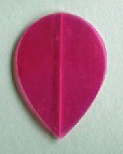 Amerithon Dart Flights-  Translucent Hot Pink Teardrop Shape - FIVE sets