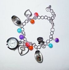NEW! HAZEL LADIES' CHARM BRACELET WATCH (LOT OF 4 PCS.)