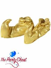 GOLD GENIE SHOE COVERS Arabian Christmas Panto Costume Accessory 9563S