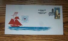 Coast Guard 200th. Anniv. Pictorial Lighthouse Cancel Jamestown, RI 1990 MIK