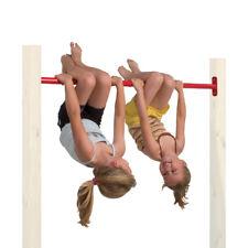 Wickey Barre de gymnastique en métal sans bois 125 cm aire de jeux jardin jouets