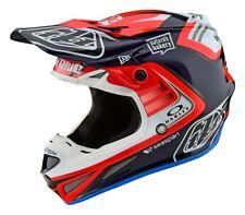 Troy Lee Designs TLD SE4 CARBON Flash Motocross MX Race Helmet Blue Red Adults