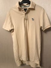 Abercrombie And Fitch Muscle Fit Short Sleeve Mens Polo Shirt Size UK Small