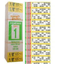 1500 BOOKS 6 PAGE GAME STRIPS OF 12 TV JUMBO BINGO TICKET SHEET BIG BOLD NUMBERS