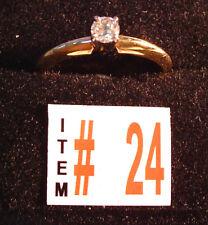 Item 24  14K  Gold ..14 Diamond  Engagement Ring, NEW