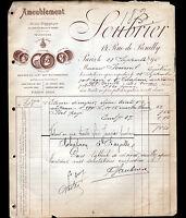 """PARIS (XII°) AMEUBLEMENT """"SOUBRIER"""" en 1895"""