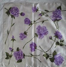 Beau foulard  vintage  100 % acetate  BEG Scarf