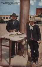 San Antonio TX Mexican Candy Vendor Military Plaza c1910 Postcard