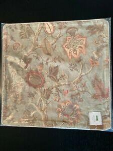"POTTERY Barn Camilla Reversible Print PILLOW COVER 20"" Floral Bird NEW Cosette"
