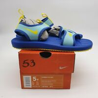 Nike New Dead Stock Very Rare Sunray III (GS) Sandals 187002-471 Blue Gold