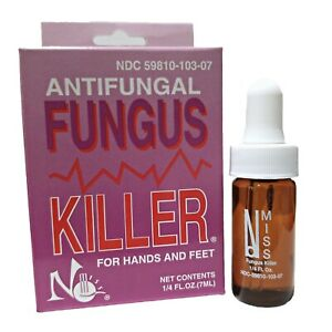 No Miss Antifungal Fungus Killer for hands and feet 1/4 fl.oz. 7ml New Bottle