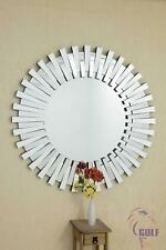 Taranto Sunburst Multi Mirror Glass Round Venetian Wall Mirror New 4ft (120cm)