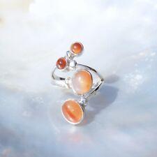 Karneol Ring, 925er Silber, Edelsteinring (21828), Edelsteinschmuck