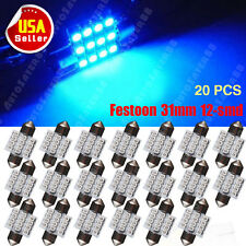 20XUltra Blue 31mm Festoon 12SMD LED  Car Dome Map Light Bulbs DE3021 3022 3175
