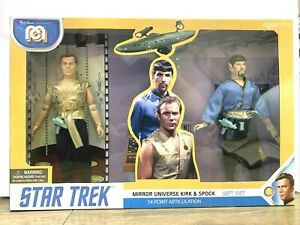 NEW BOXED = MEGO STAR TREK MIRROR UNIVERSE KIRK AND SPOCK - 2 PACK