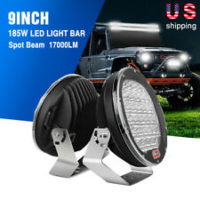 Nilight 27W 96W 185W Round LED Work Lights Bar Pods Fog Driving Lamps Trucks SUV