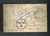 1942 Tirol Germany Feldpost Sniper Postcard Cover to Brunn Gestapo Prisoner