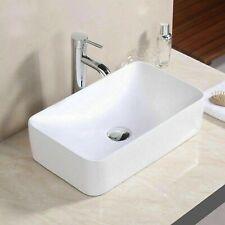 UK Modern Design Bathroom Countertop Rectangle Bowl Top Ceramic Basin Sink