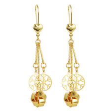 Fashion Women Gold Plated Long Dangle Drop Earrings Jewelry