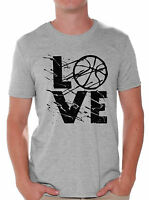 LOVE Basketball Men's T shirt Tops Gift for Basketball Player Game Day