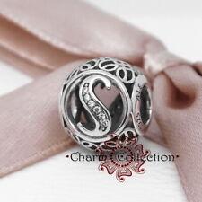 Genuine Pandora, Alphabet Letter, Initial, Vintage S, Bracelet Charm 791863CZ