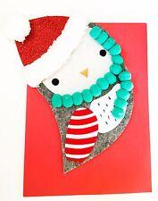 New Papyrus Christmas Card Holiday Greeting Card Santa Hat Owl Hangable Ornament