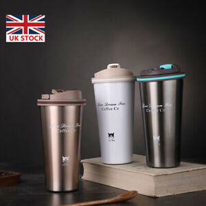Insulated Coffee Mug Cup Travel Thermal Stainless Steel Flask Leakproof Vacuum