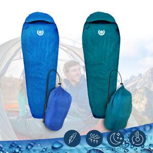 Schlafsack Mumienschlafsack Campingschlafsack Feldbett Outdoor Camping - 0°C Neu