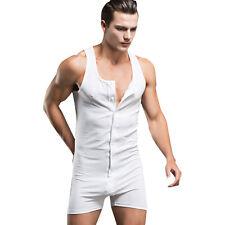 Mono Body para Hombre Pijamas de Dormir Algodón Sudaderas Deportivas sin Mangas