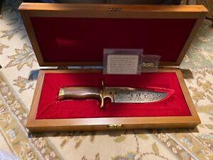 Colt Bowie Knife 1977 TEXAS RANGERS Aurum Etched