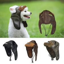 Pet Dogs Puppy Hat Winter PU Aviator Cap Cosplay Costume Warm Windproof New