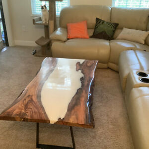 Wooden Center,Sofa,Dining Table Top, Resin,River Table Top, Walnut Epoxy Decors
