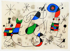 MIRO - HAPPENING  - DERRIERE LE MIROIR LITHOGRAPH - 1967 - FREE SHIP IN  US !