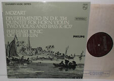 SAL 3691 Mozart Quintet For Horn Violin Violas Bass Philharmonic Octet Berlin PS