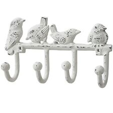 Hill Interiors Cast Iron Birds Key Hook, White/antique White - Antique Hook