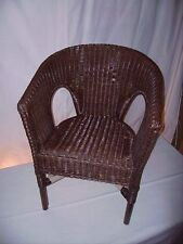 Rattan Armchair NEW Brown Chair Wicker Chairs Stackable Chair Rattan