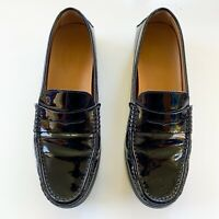 TOD's Patent Leather Penny Loafer Driving Shoe, Size 10