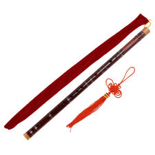 Red Traditional Chinese Bamboo Flute Dizi F Key Musical Instrument
