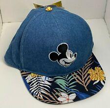 Disney Mickey Mouse Boys Baseball Cap Adjustable Hat Kids Blue Hawaiian